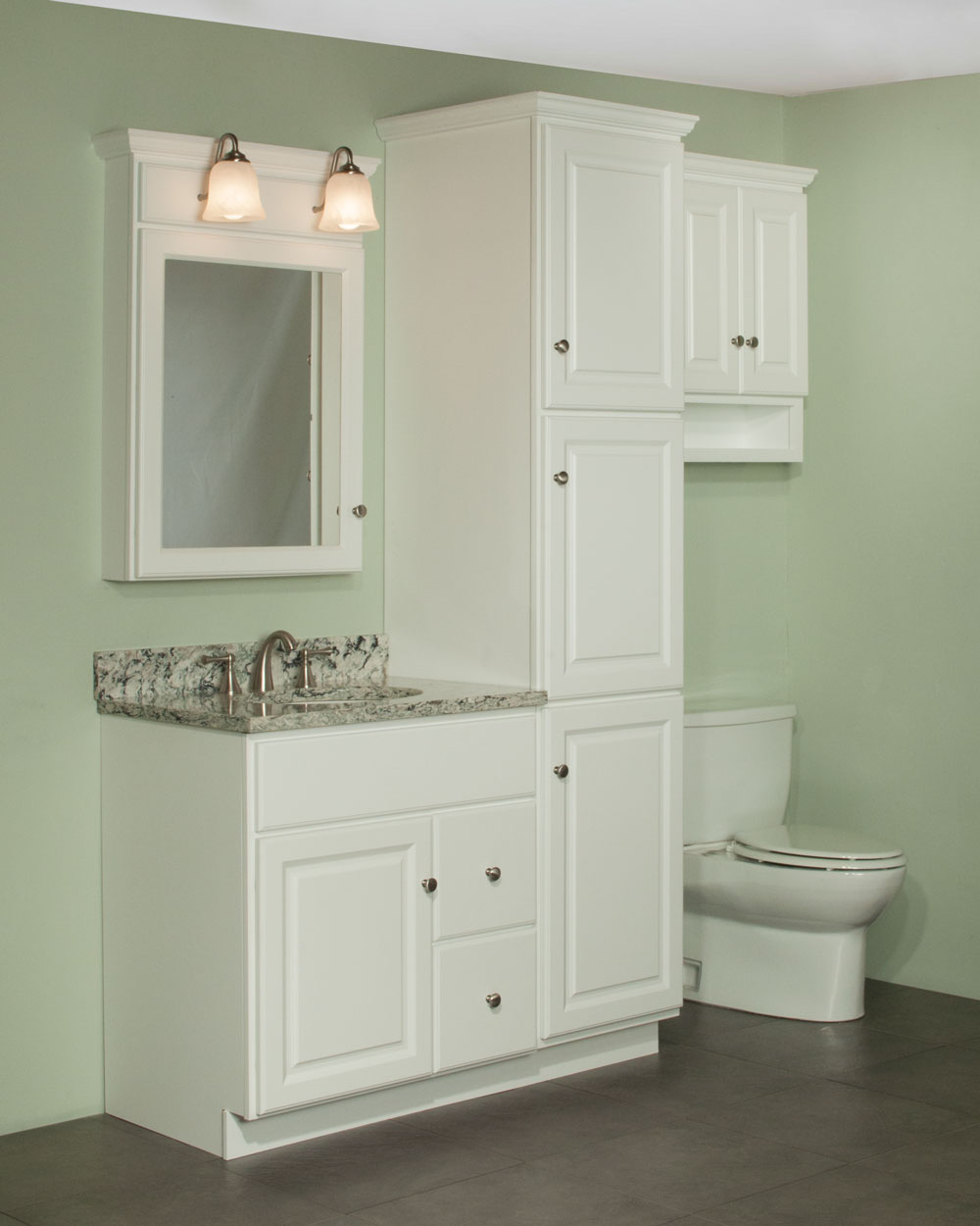 Vanities for bathrooms lowes - Royale Cabinet Series Quentin Collection