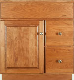 Coventry Collection with Prestige Door style in Cherry-Golden Wood-Color. Standard Coventry Decorative Hardware shown.