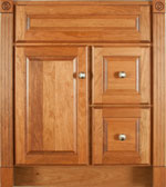 Estate Collection with Prestige Door style in Cherry-Golden Wood-Color. Standard Estate Decorative Hardware shown.