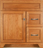 Gentry Collection with Edgewood Door style in Cherry-Golden Wood-Color. Standard Gentry Decorative Hardware shown.