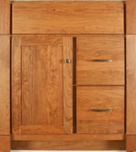 Monterey Collection with Shaker Door style in Cherry-Golden Wood-Color. Standard Monterey Decorative Hardware shown.
