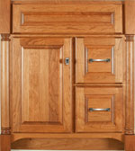 Nottingham Collection with Prestige Door style in Cherry-Golden Wood-Color. Standard Nottingham Decorative Hardware shown.