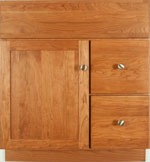 Revere Collection with Shaker Door style in Cherry-Golden Wood-Color. Standard Revere Decorative Hardware shown.