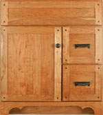 Valencia Collection with Old Town Door style in Cherry-Golden Wood-Color. Standard Valencia Decorative Hardware shown.